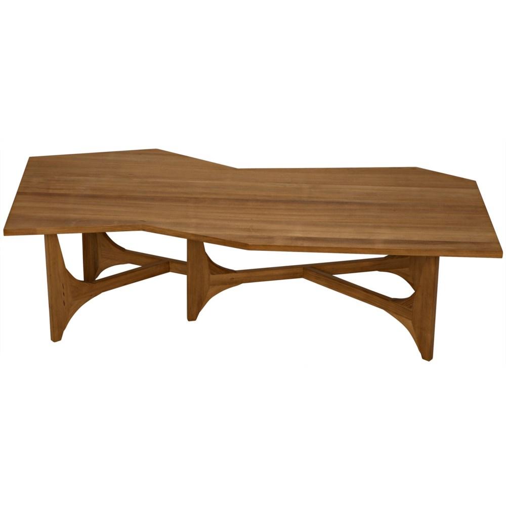 Fenton Coffee Table, Gold Teak