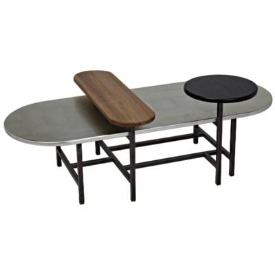 Bogard Coffee Table, Walnut, Silver Leaf (Type A)