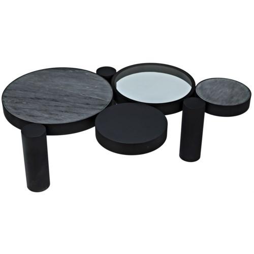 Trypo Coffee Table, Black Metal