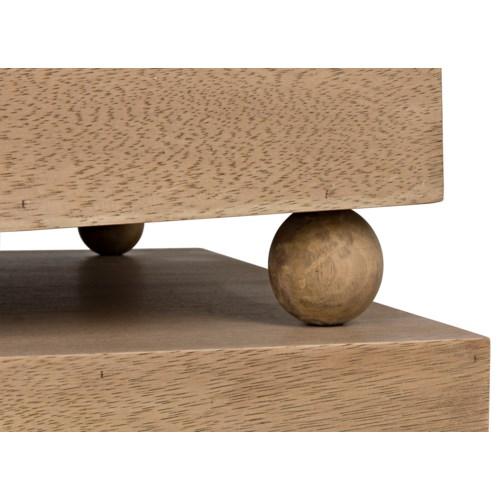 Ramos Coffee Table, Washed Walnut