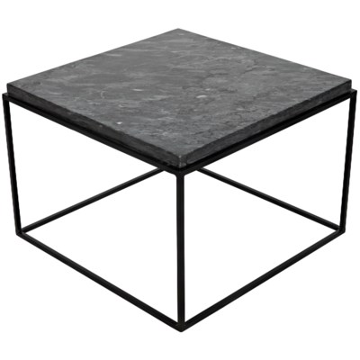 Lomax Coffee Table, Black Metal Finish with Black Stone