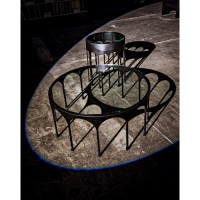 Achille Coffee Table, Black Metal