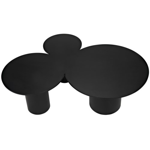Shield Coffee Table, Black Metal