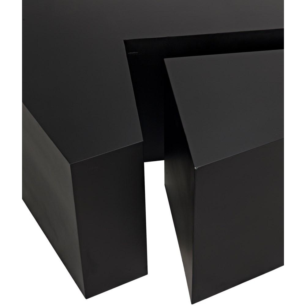 Element Coffee Table, Black Metal