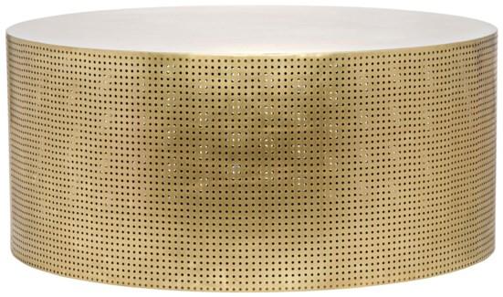 Dixon Coffee Table, Antique Brass, Metal