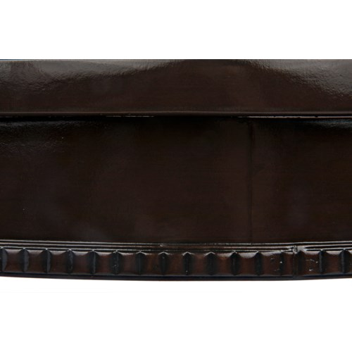 Scheffield Round End Table, Distressed Brown
