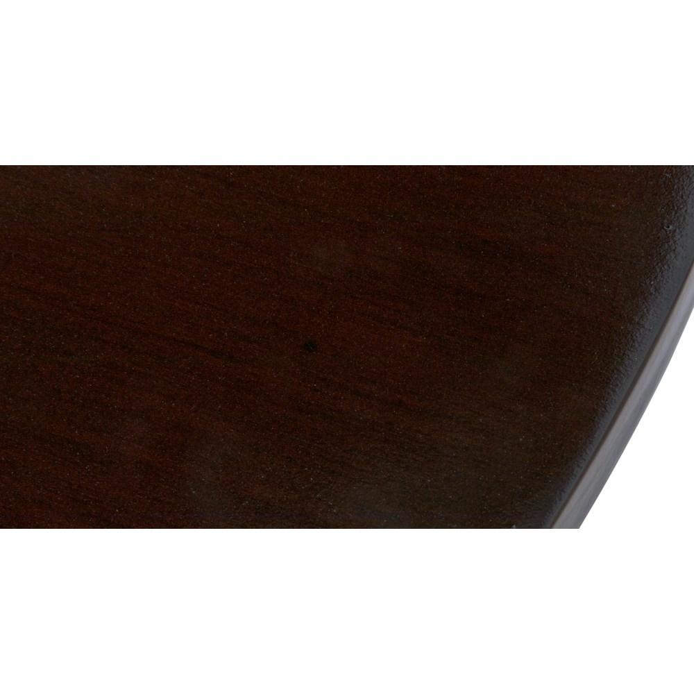 Scheffield Round End Table, Distressed Brown