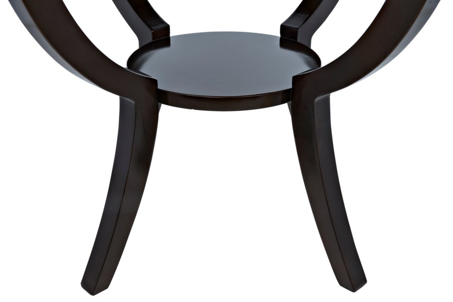 QS Scheffield Round End Table, Distressed Brown