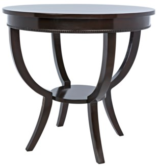 QS Scheffield Round End Table, Distressed Brown