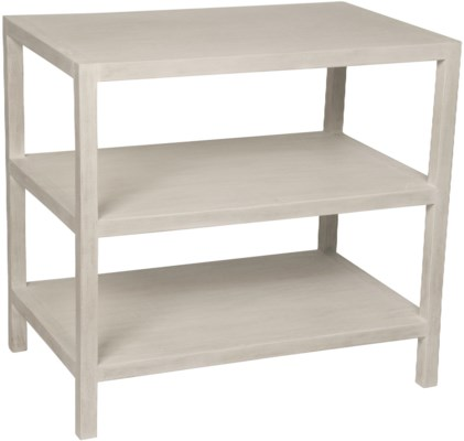 QS 2 Shelf Side Table, White Wash
