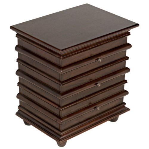 Ascona Side Table, Hand Rubbed Brown