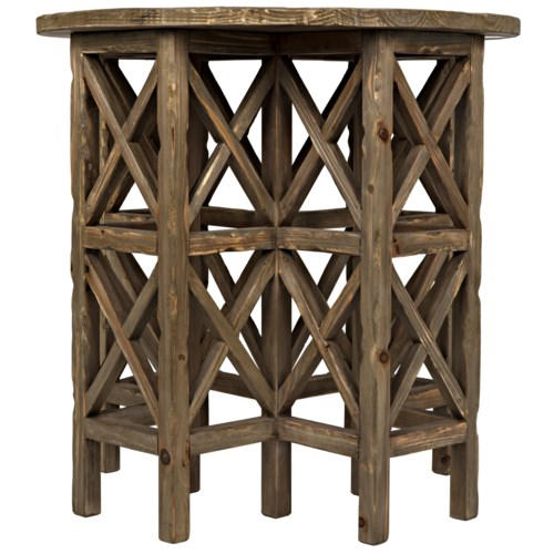 Zimmerman Side Table, Old Wood