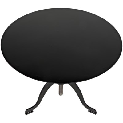 Calder Side Table, Black Metal