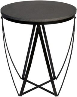 Z Diagram Side Table, Stone and Metal