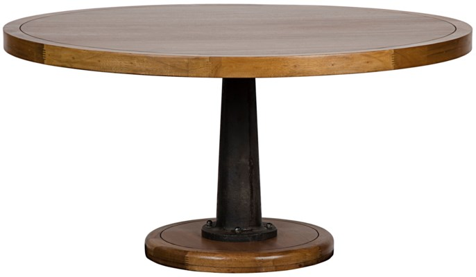 """Yacht Dining Table with Cast Pedestal, 60"""""""