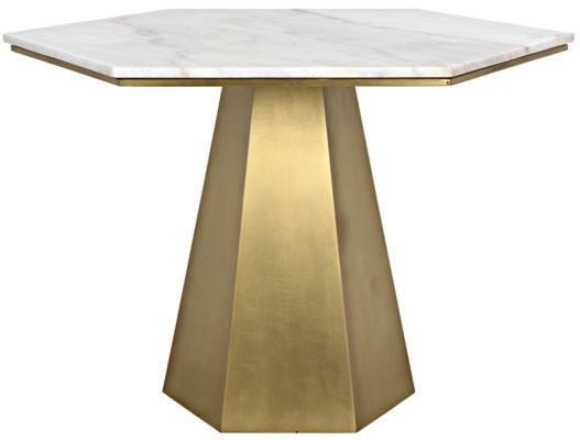 QS Demetria Table, Metal and Quartz