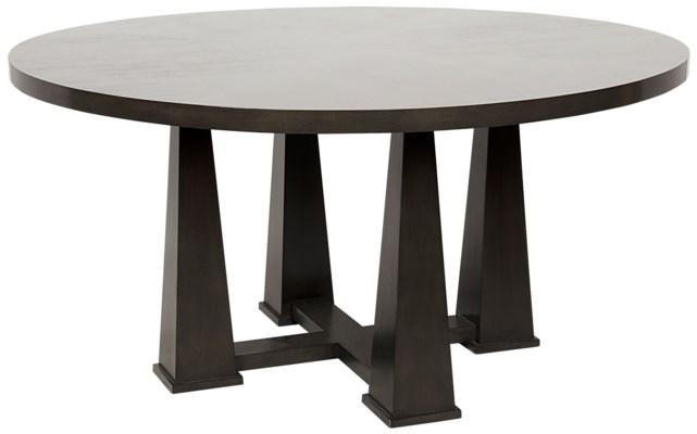 Z Pillar Dining Table, Pale
