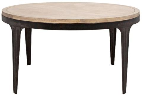 Z Rodolfo Table, Washed Walnut, Walnut and Metal
