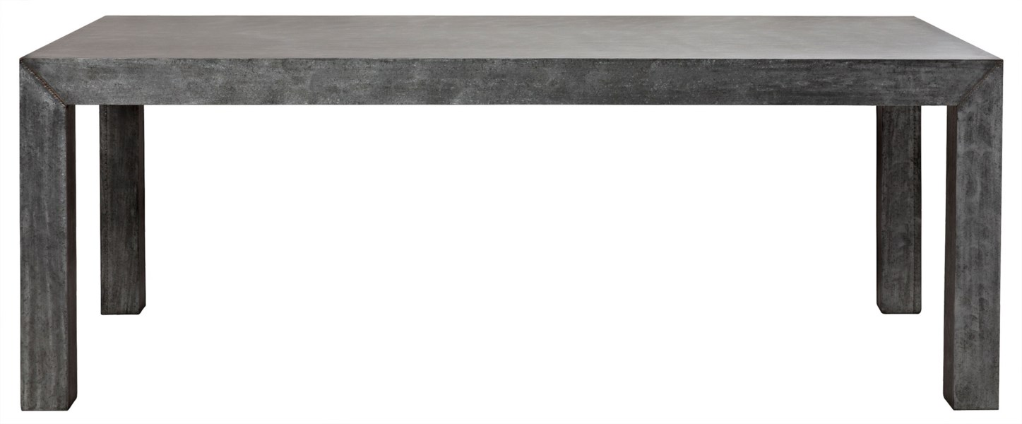 Simon Table, Plain Zinc and Wood