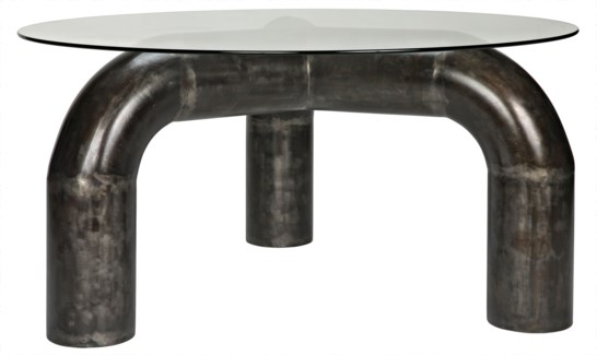 Parsifal Dining Table with Metal Base