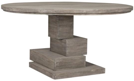 Hancock Dining Table, Distressed Grey