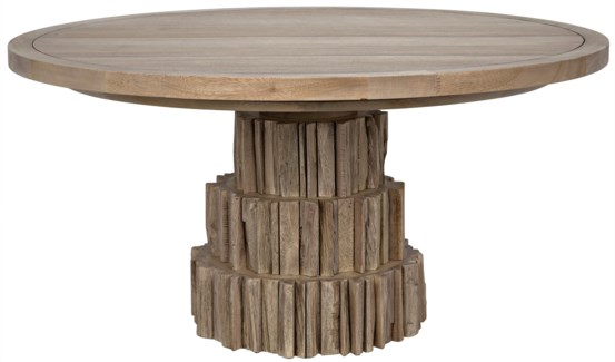 Cliff Dining Table, Washed Walnut