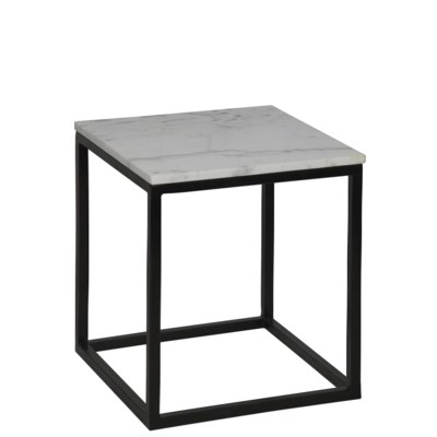 Manning Side Table, Small, Metal and Quartz