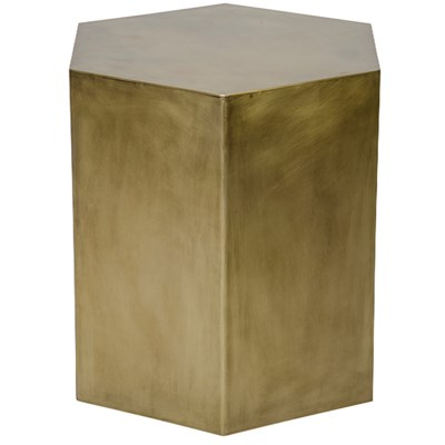 Aria Side Table, A, Antique Brass
