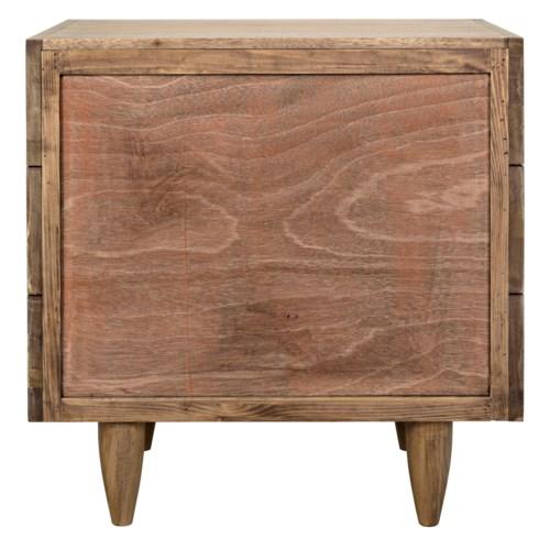 "David 32"" Side Table, Washed Walnut"
