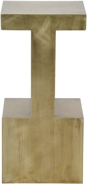 Elmas Side Table, Large, Antique Brass