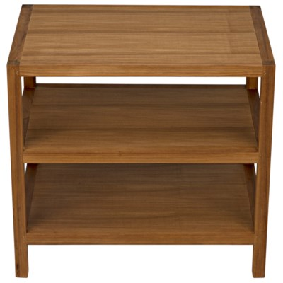 SL9 Side Table, Gold Teak