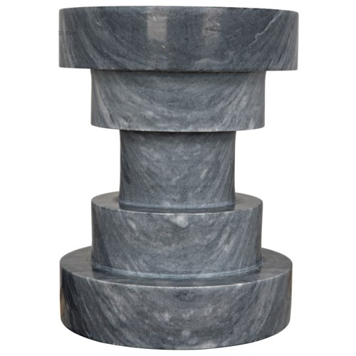 Chandra Side Table, Black Marble