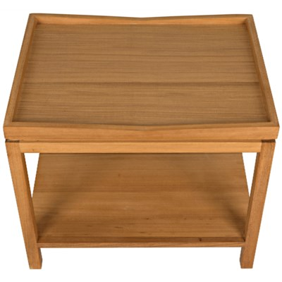 Saga Side Table, Gold Teak