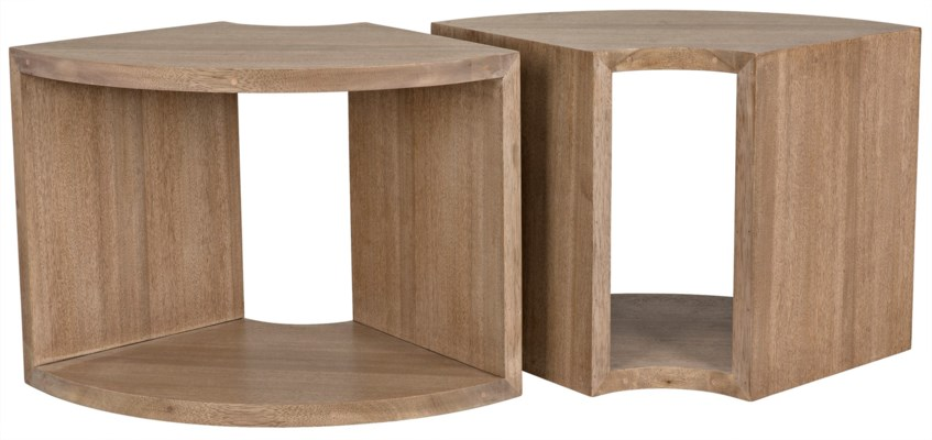 Segment Side Table One Piece Washed Walnut Accent Tables