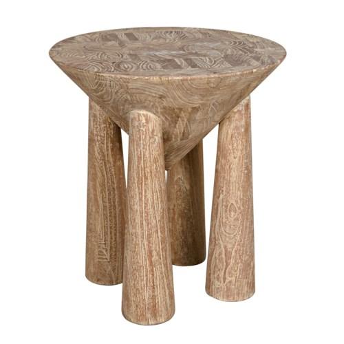 Kongo Side Table, Distressed Mindi