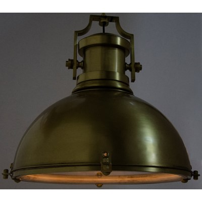 Marine Fixture Pendant, Antique Brass