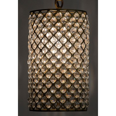 Odeon Pendant, Antique Brass