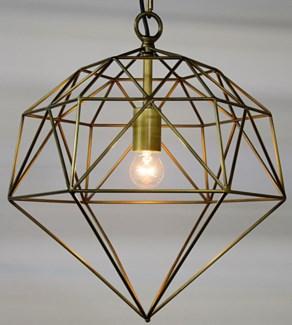 Z Perruzi Pendant, Metal w/Brass Finish