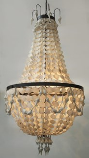 Z Elizabeth Chandelier, Resin Shell