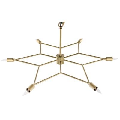 Star Pendant, Antique Brass
