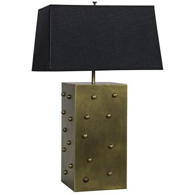Z Strong Box Lamp, Antique Brass