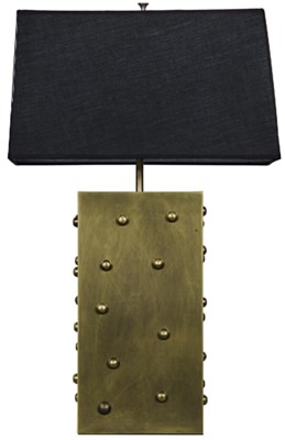 Z Strong Box Lamp, Antique Brass