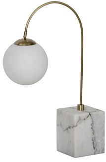 Soldity Table Lamp, Antique Brass, Marble and Metal