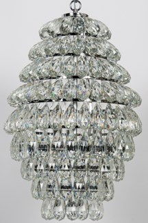 Illumination Chandelier, Chrome Finish, Metal and Glass