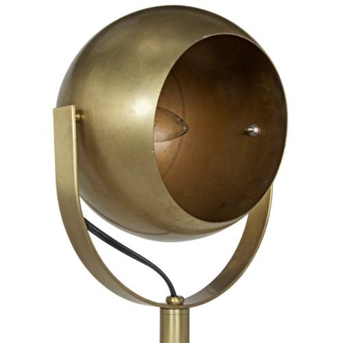 Bullet Floor Lamp, Antique Brass