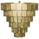 Shield Chandelier, Antique Brass