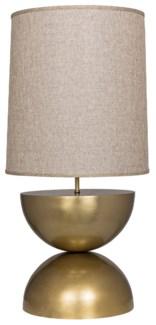 Pulan Table Lamp, Antique Brass