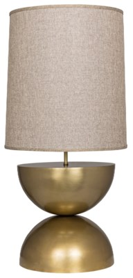 Pulan Table Lamp, Antique Brass