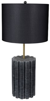 Gogol Table Lamp, Black Stone