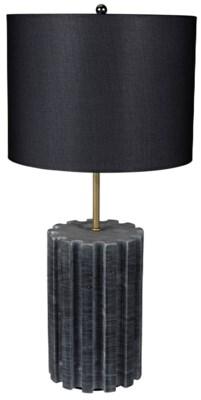 Gogol Table Lamp, Black Stone